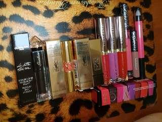 Lipsticks YSL Urban decay Kat Von D
