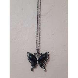 Butterfly Necklace & Retro Bracelet