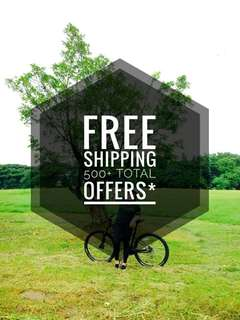 Free Shipping within MM Area Only for 500+ Offers