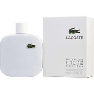 lacoste white for men 100ml