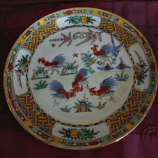 Porcelain chicken plate