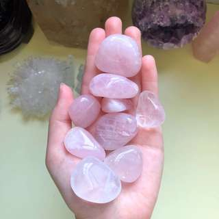 Rose Quartz Polished Tumbled Stones (Large)
