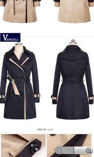 Trench Coat Black Double Breasted (Women)