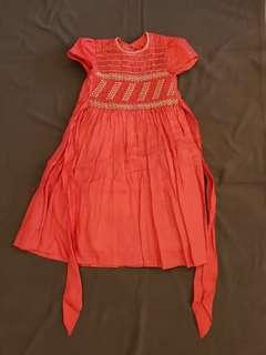 手工縫製純麻洋裝1
