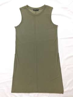 Cotton on Army Green Mesh Tunic