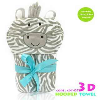 3D Kids Hooded Towel - CDT07