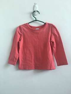 12-18 months Old Navy Red Long Sleeved T- Shirt