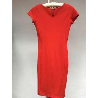 Executive red dress