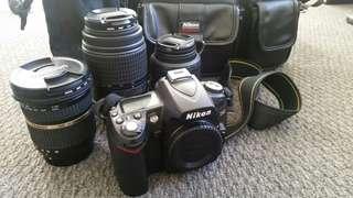 Nikon D90 DSLR camera with x3 lens
