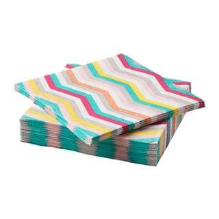 [IKEA] SOMMAR 2018 Paper napkin, zigzag pattern 30pieces