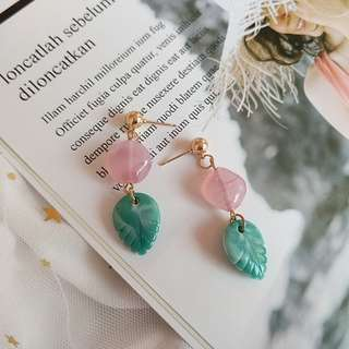 Candy with leaf earrings