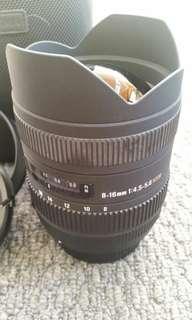 Sigma Fisheye lens for Nikon DSLR Camera