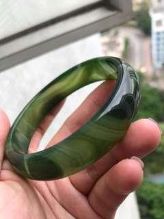 綠色水膽瑪瑙手鈪 手鐲 超完美 超高質素