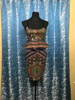 Peplum top with skirt