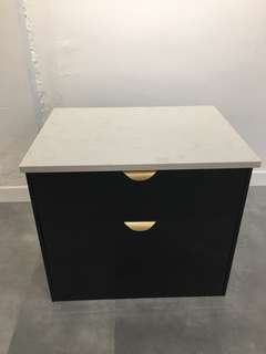 Basin top with cabinet