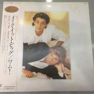 Wham!, Make It Big, Japan Press Vinyl LP, Epic ‎– 28·3P-555, 1984, with OBI