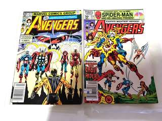 AVENGERS 214 & 217 MARVEL COMICS