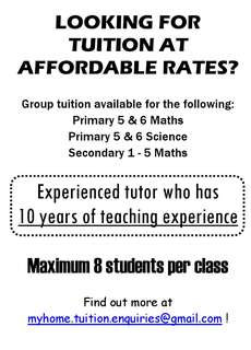Maths and Science tuition