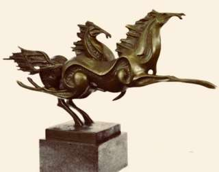 Two Horses - Modern Bronze Sculpture