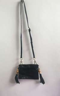 Olivia + Joy Black Tassle Bag
