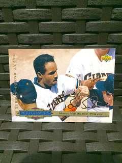 Baseball signature card