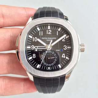 Patek Philippe Aquanaut Travel Time Silver Black Dial Swiss Engine