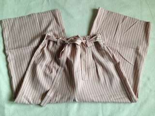 FREE SHIPPING!!! Pink striped culottes