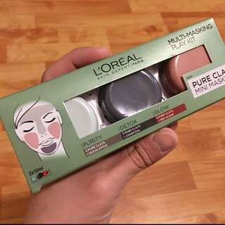 Loreal clay mask kit