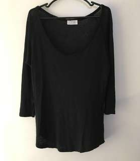 Charity Sale! Authentic Zara Black Sweater Collection Size Small Black topshop