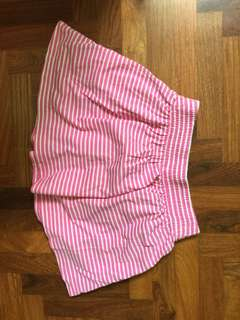 Uniqlo Girl's pink stripe skirt
