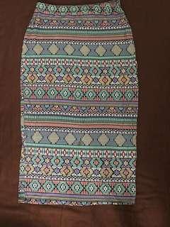 Atmosphere Tribal Pencil Skirt