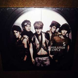 Super Junior 005 - Mr. Simple (Type B) - (black brown cover)  CD