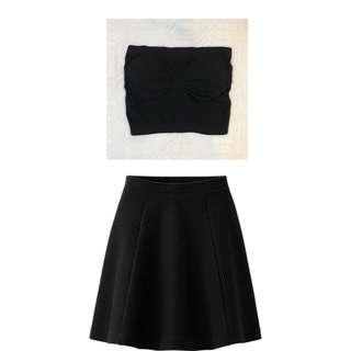 Mix & Match: Black Tube Midriff and Skirt