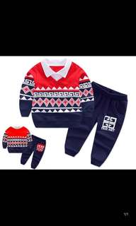 Cotton 1-3year old boy wear(cloth + long pant included)