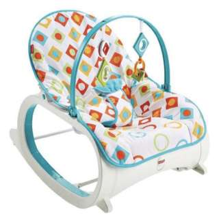 [In-stock] Fisher Price Rocker Infant-to-Toddler, Geo Diamonds