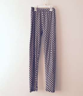 Charity Sale! Geometric Print Stretchy Black and White Women's Tights Bottom Pants Size Medium to Large Leggings