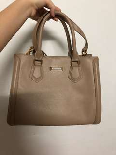 Authentic Charles and Keith beige bag