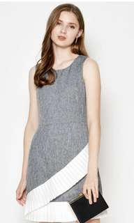 [BN] Love and Bravery Betsy Asymmetrical Pleat Dress in Grey