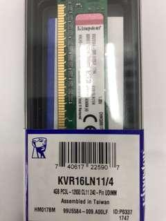 Sell new Kingston 4GB PC3L