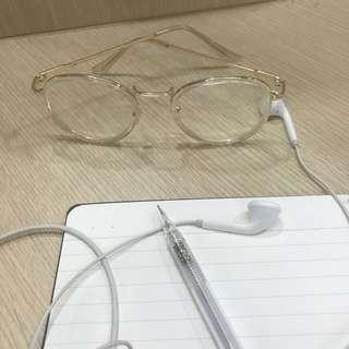 金框文青眼鏡