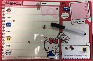 Hello Kitty 告示白板有漸黑色marker筆