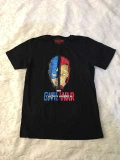 Charity Sale! Authentic Civil War Captain America T-Shirt Size Small Boys