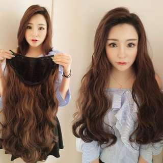 U shape Long wavy Hair wig