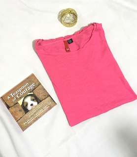 Charity Sale! Authentic Divided by H&M 100% Cotton Pink Women's Size Large T-Shirt