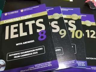 Cambridge IELTS 8-10 & 12 exam papers