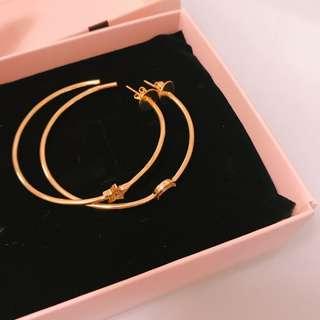 精品耳環/大圓圓形造型耳環