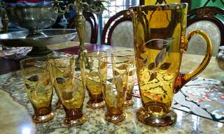 Set glass made in Germany antik