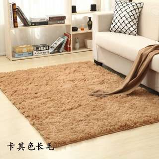 歐陸純色絲毛地毯卧室廚房洗手間客廳均有不同尺寸