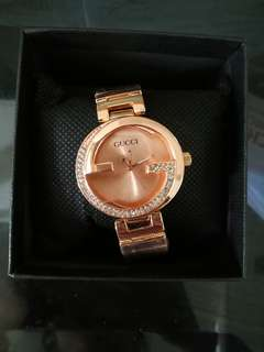INSTOCK Rose gold Studded Watch