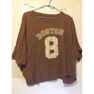 [99特區]復古風 Boston 8號寬鬆大T